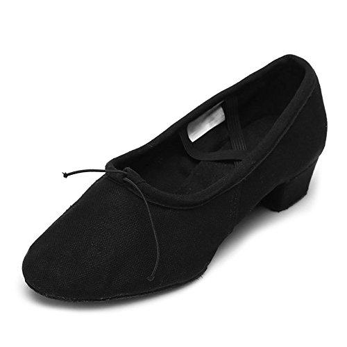 De Performance Salsa Tango Calzado Salón Latinos amp;niña Danza Zapatos 1 Mujeres modelo Baile Ykxlm Zapatillas Es101 Negro x8PvzInwB