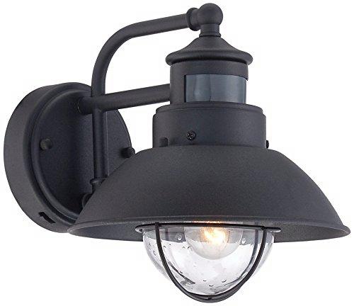 Oberlin 9 Quot H Black Dusk To Dawn Motion Sensor Outdoor Light