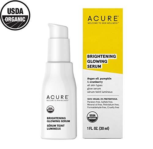 Acure Brightening Glowing Serum   100% Vegan