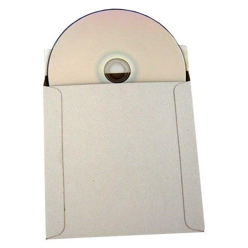 100 CD/DVD White Cardboard Mailers 5.25'' X 5.25'', Self Seal Mailers with Flap