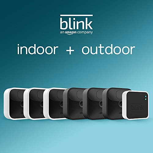 All-new Blink Outdoor and Indoor – wi-fi, HD safety cameras with two-year battery existence and movement detection – 6 digicam equipment