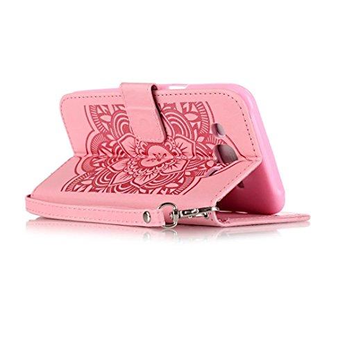 JIALUN-Personality teléfono shell Funda Samsung Galaxy J5, modelo de la cartera de colores Patrón de la caja de estilo Diseño magnético Funda de cuero de la PU folio para Samsung Galaxy J5 Seguridad y Rose