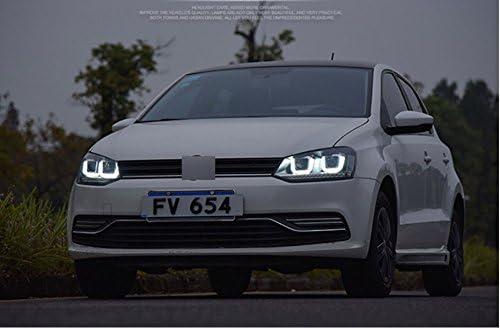 GOWE - Faros Delanteros para VW Polo 2009-2015 con luz LED y Doble ...