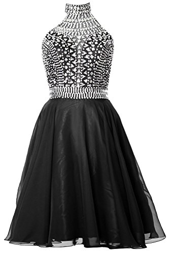 MACloth Gorgeous Halter Prom Homecoming Dress High Neck Cocktail Formal Gown Negro