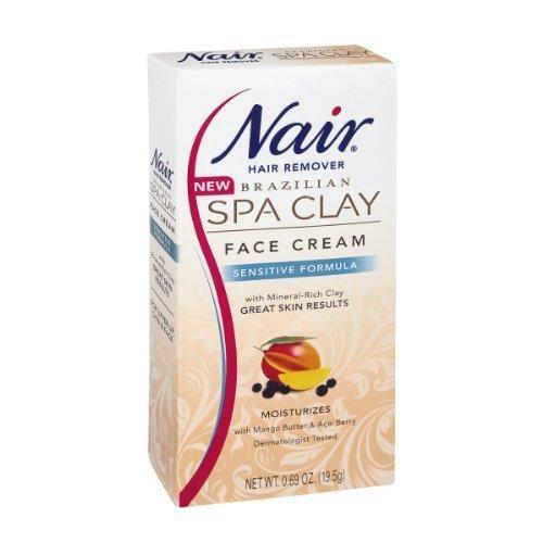 nair-brazilian-spa-clay-sensitive-formula-face-cream-hair-remover-069-oz-pack-of-2-by-church-dwight