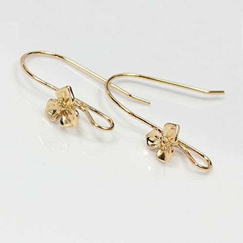 (Gold Filled Flower Hanging Ear Hooks Earring Wire for Making Hand Made Earrings Finding Jewelry3pairs 2117mm)