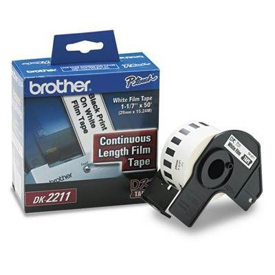 (Brother DK2211 Continuous White Length Film Tape 1-1/5IN 29MM 50FT)