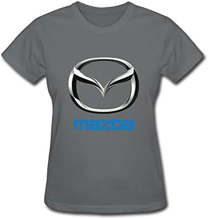 Van Women's Mazda Motor Corporation Car Brand Logo Tees Black
