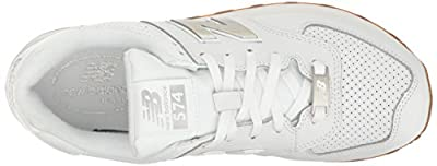 New Balance Men's 574 Lifestyle Fashion Sneaker, White/Silver, 11 2E US