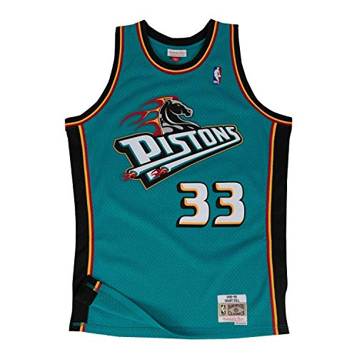 Mitchell & Ness Grant Hill 1998-99 Detroit Pistons Teal HWC Swingman Jersey from Mitchell & Ness