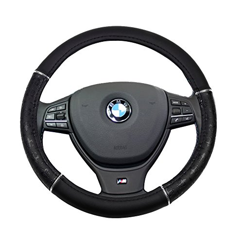 al 15 Inch Steering Wheel Cover Leather Protection Breathable Car Steering Wheel Cover ()