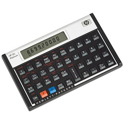 HP 12c Platinum Financial Calculator 130 Functions - 1 Line(s) - 10 Character(s) - LCD - Battery Powered (Retail)