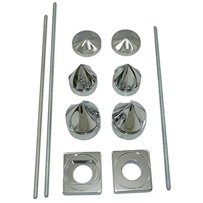 Yana Shiki CA4271 Spiked Style Chrome Finish Dress Up Kit for Suzuki GSX-R 600 and GSX-R 750: Automotive