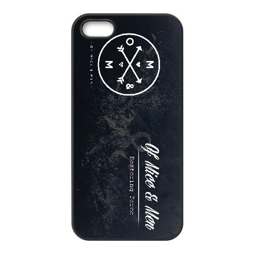 Of Mice & Men 004 coque iPhone 4 4S Housse téléphone Noir de couverture de cas coque EOKXLKNBC18861