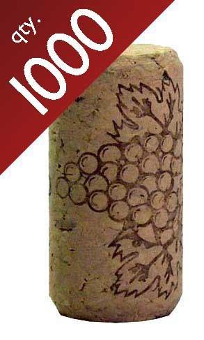 #8 Straight corks 7/8'' x 1 3/4'' Bag of 1000