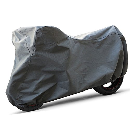 OxGord Superior Motorcycle Cover - Basic Out-Door 4 Layers - Ready-Fit / Semi Custom - Fits up to 89 Inches ()
