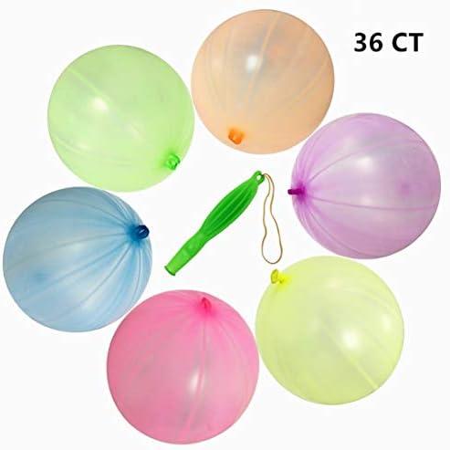 ゴム製パンチ風船 36個大きなパンチボールバルーン ネオン色 12インチパンチングバルーン ラバーバンド付き パーティー装飾 子供 ギフト おもちゃ