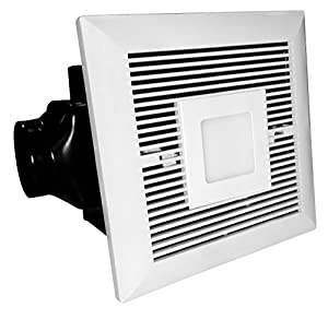 Tatsumaki Electric Bathroom Fan - 120 CFM Ultra Quiet Exhaust & Ventilation Fan with 6W LED Light for Improved Airflow & Air Circulation