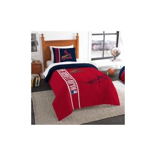 Northwest NOR-1MLB835000027BBB 64 x 86 St. Louis Cardinals MLB Twin Comforter Set, Soft & ()