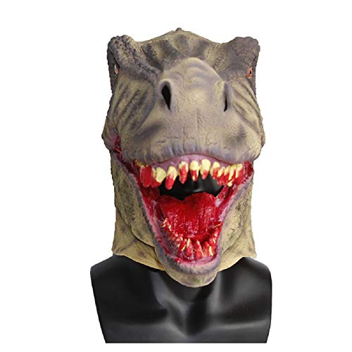 Scary Bloody Tyrannosaurus Dinosaur Mask Horror Halloween One Size Evil Bloody Teeth Dinosaur T-Rex Mask by Halloween Paradise (Image #6)