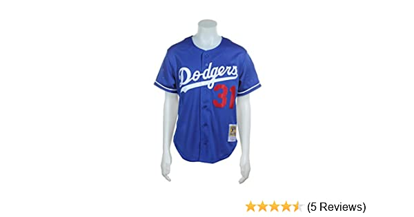 3b3bdddbb0b Amazon.com   Mitchell   Ness Mike Piazza Blue Los Angeles Dodgers Authentic  Mesh Batting Practice Jersey   Sports   Outdoors