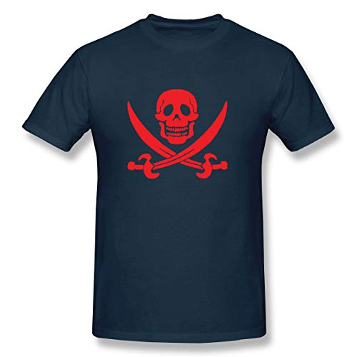 (Men's T-Shirt Short Sleeve Anchor Pirate Novelty Funny Moisture Wicking Athletic Tee Lightweight)