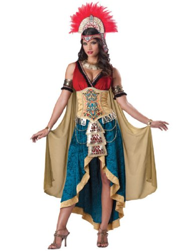 InCharacter Costumes Women's Mayan Queen, Gold/Blue, Small (Historical Costume Ideas)