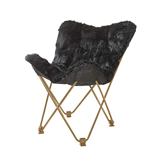 Urban Shop Mongolian Butterfly Chair, Black
