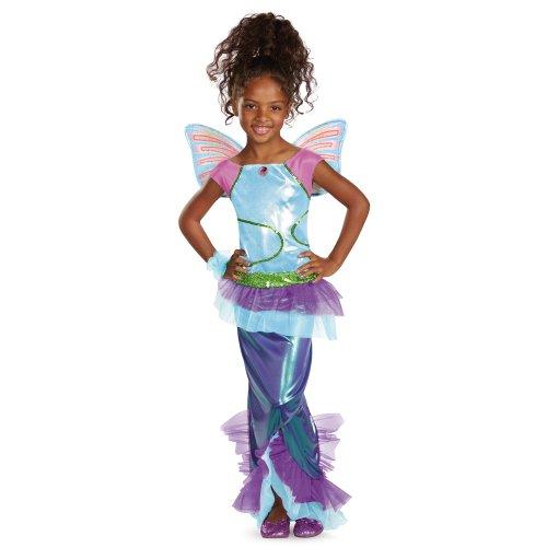 [Disguise Girl's Winx Club Aisha Mermaid Deluxe Costume, 7-8] (Mermaid Fairy Costumes)