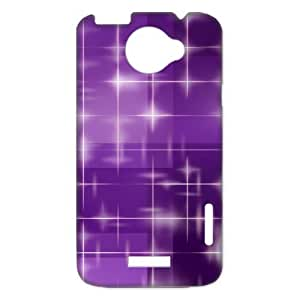 Shiny Star Sparkle Purple Beautiful Fashion Hard Case Cover for H One X