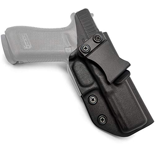 STARVAST IWB KYDEX Holster for Glock 17 22 31 (Gen 1-5), Right-Handed Inside Waistband Concealed Carry Holster - Adjustable Retention Pressure & Carry Angle (Cant)