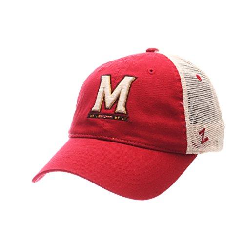 Zephyr NCAA Maryland Terrapins Adult Men University Relaxed Cap, Adjustable, Team Color/Stone (Zephyr Hat Maryland)