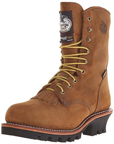 Georgia Men's G9382 Logger M Steel Toe Work Boot, Worn Saddle, 10.5 M US (Insulated Georgia Boots)