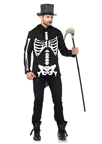 Leg Avenue Men's Bone Daddy Skeleton Costume, Black/White, Medium