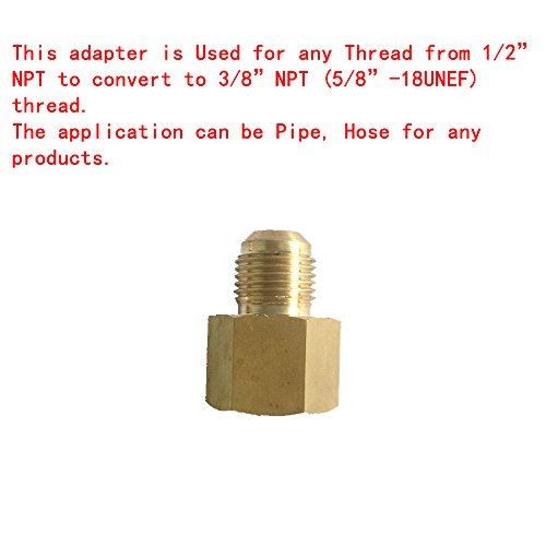 Thread Unef (EARTH STAR Pipe assembly Brass adapter 1/2