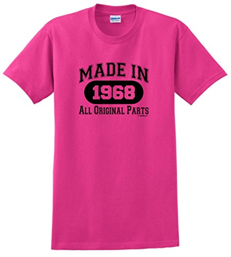 50th Birthday Gifts for Mom 50th Birthday Gift Made 1968 All Original Parts T-Shirt Large Heliconia