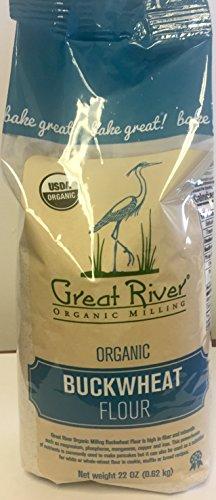 Great River Organic Milling Buckwheat Flour, 22 Ounce (Pack of 4) Organic Buckwheat Flour