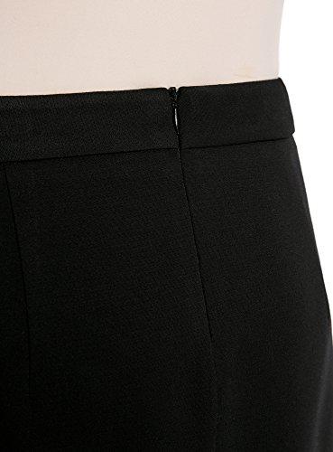 Dcoratifs Jupe Femme Zips 2900n Trapze Noir avec Ultra oodji TFqUYY