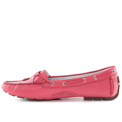 Marc Joseph New York Women's Cypress Hill Driving Style Loafer, Paradise Pink