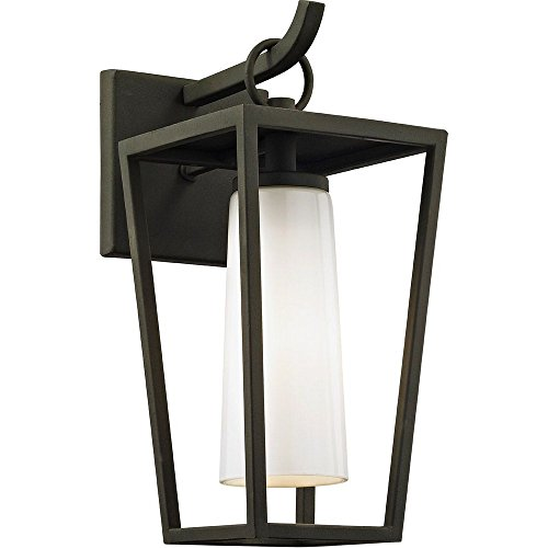Incandescent Troy Sconce (Troy Lighting B6351 Mission Beach Outdoor Wall Sconce Small Textured Black)