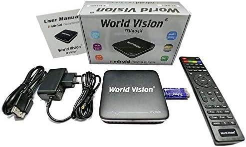WORLD VISION Receptor Android TV Box 4K: Amazon.es: Electrónica