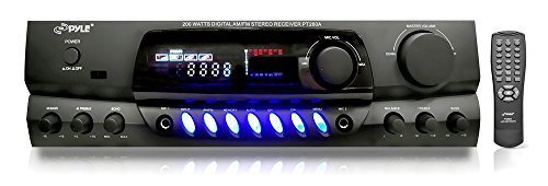 4) Pyle PLMR24B 3.5'' 200W Box Speakers + PT260A Home Digital Stereo Receiver by PyleAudioBundle (Image #1)