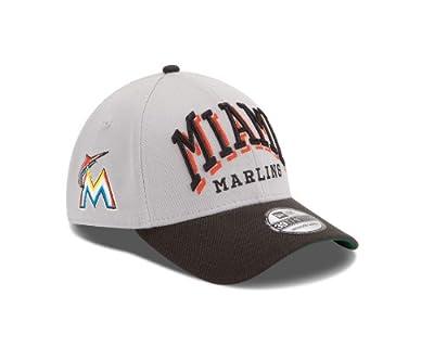 MLB Miami Marlins Arch Mark Classic 39Thirty Stretch Fit Cap
