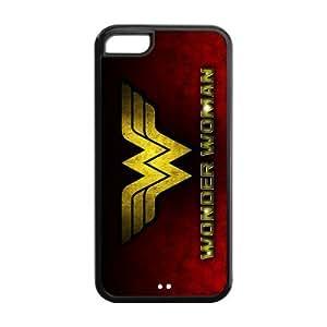 LeonardCustom Protective Hard Rubber Coated Phone Cover Case for iPhone 5C , Wonder Woman -LCI5CU263