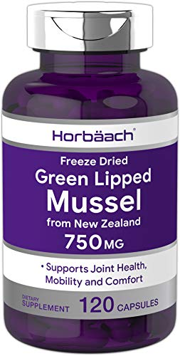 Food Science Sea Mussel - Horbaach Green Lipped Mussel 750 mg 120 Capsules | from New Zealand | Premium Freeze Dried Mussel Powder | Non-GMO and Gluten Free