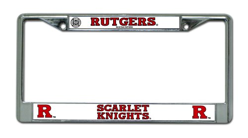 NCAA Rutgers Scarlet Knights Chrome Plate Frame (Rutgers License Plate)