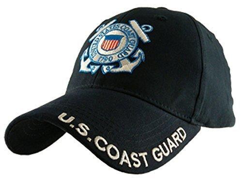 Coast Guard Baseball Hat - U.S. Coast Guard Logo with Text Cap,Navy Blue,One Size Fits Most