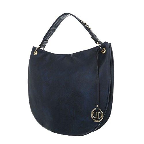 À Femme designSac Pour L'épaule Bleu Foncé Ital Porter 4RjL5A
