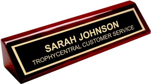 Engraved Desk Name Plate - Office Name Plate for Desk - Business Desk Name Plate