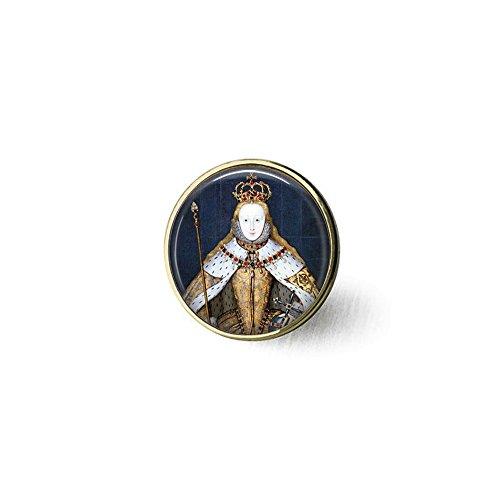 yijun Queen Elizabeth I in her Coronation Robes - British Monarch - Queen Elizabeth Pendant - Big Ben - Great Britain Memento - UK Jewellery Brooch